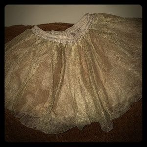 3t gymboree ruffle gold color skirt